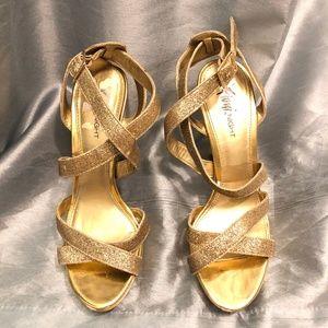 fioni Shoes - Fioni Nights Gold Lolita Strappy Heel size 6.5